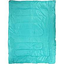 image of Halfords Double Envelope Sleeping Bag - Green