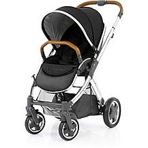 image of Oyster 2 Mirror Stroller (Tan Handle)