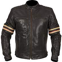 image of Weise Detroit Leather Jacket Black
