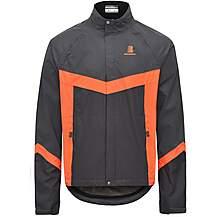 image of Boardman Waterproof Reflective Jacket - Orange/Grey