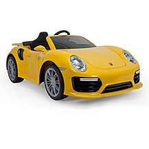image of Porsche 911 Turbo S Yellow 6V Electric Ride On