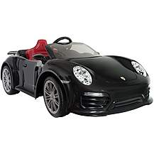 image of Porsche 911 Turbo S Black 12V Electric Ride On