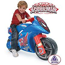 image of Winner Ultimate Spider-Man Foot to Floor Ride On Motorbike