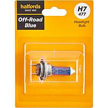 image of H7 477 Off Road Blue Car Headlight Bulb Halfords Single Pack