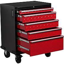 image of Hilka Garage 5 Drawer Mobile Cabinet