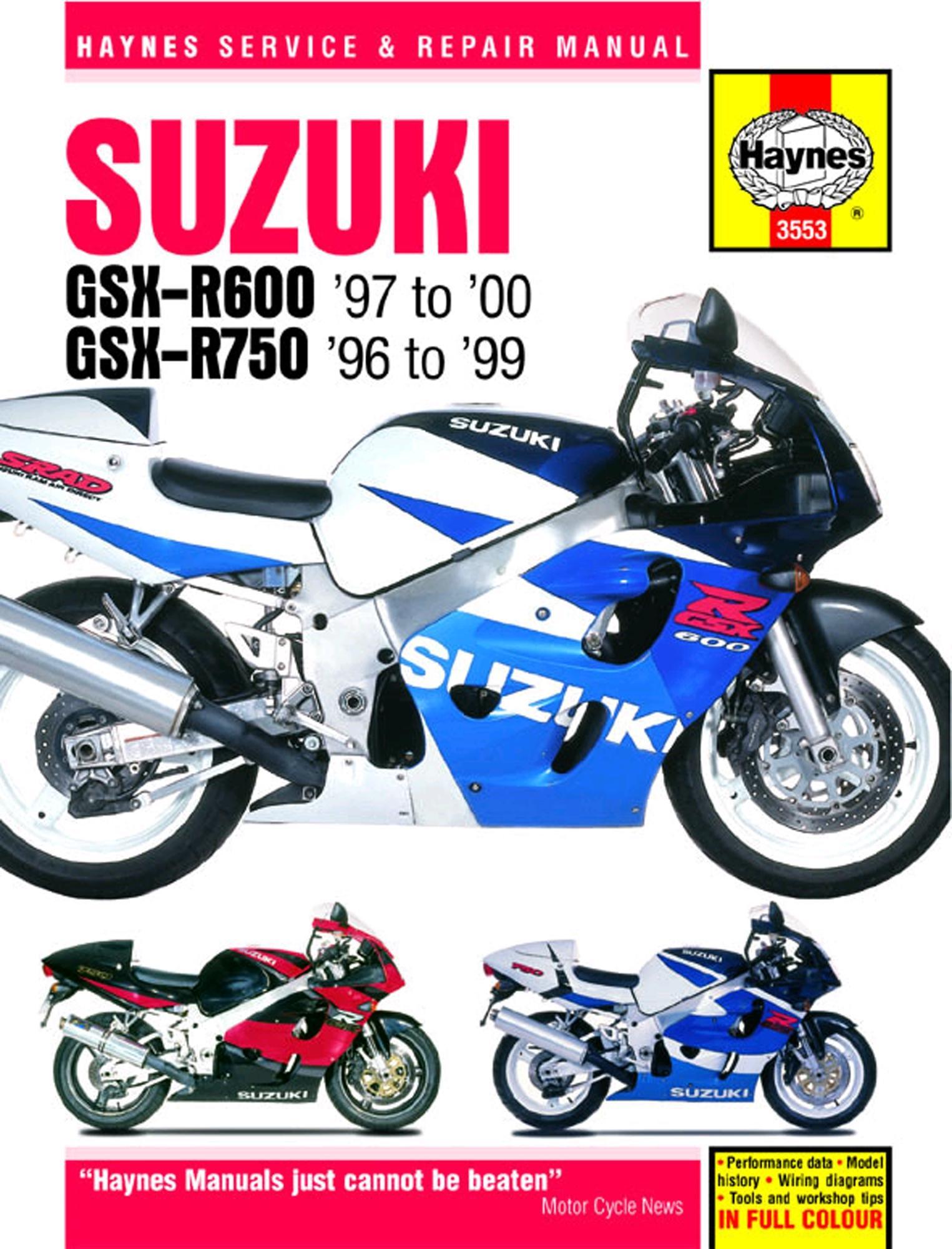 haynes suzuki gsx r600 750 96 rh halfords com suzuki gsx 750 es service manual Suzuki Gsx- S750