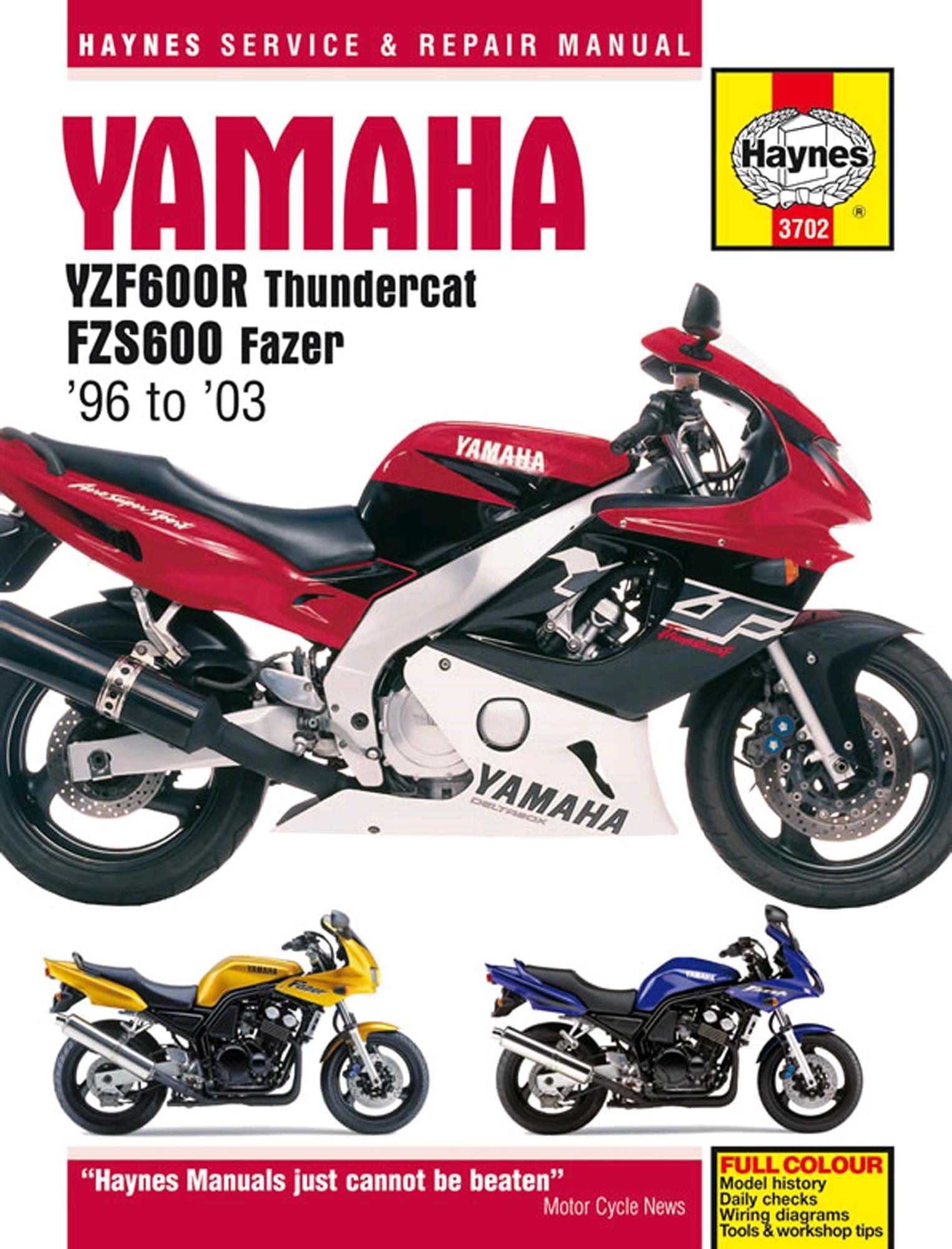 haynes yamaha yzf600r thundercat rh halfords com Blacked Out Yamaha YZF600R Thundercat 2003 Yamaha YZF600R