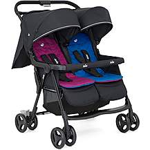image of Joie Aire Twin Stroller - Rosy/Sea