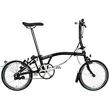 "image of Brompton S3L Folding Bike - Black - 16"" Wheel"