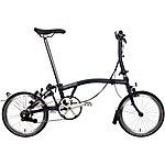 "image of Brompton S6L Folding Bike - Tempest Blue - 16"" Wheel"