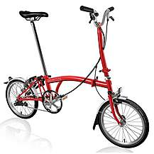 "image of Brompton H3L Folding Bike - Red - 16"" Wheel"