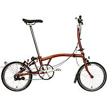 "image of Brompton M3L Folding Bike - Flame Lacquer - 16"" Wheel"
