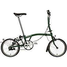 "image of Brompton M3L Folding Bike - Racing Green - 16"" Wheel"