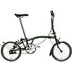 """image of Brompton M3L Folding Bike - Racing Green - 16"""" Wheel"""