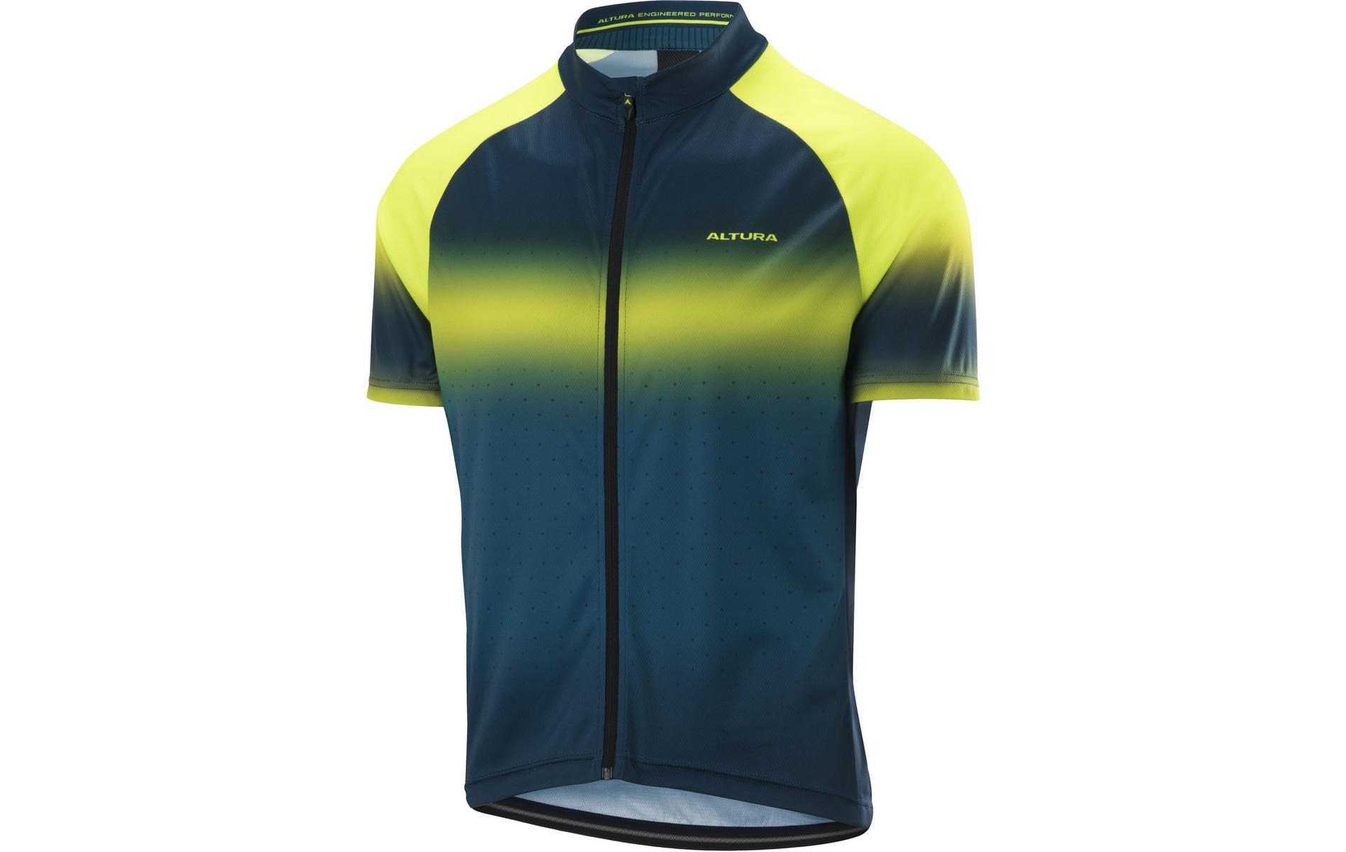 Altura Airstream Short Sleeve Jersey Yellow/Teal - Large