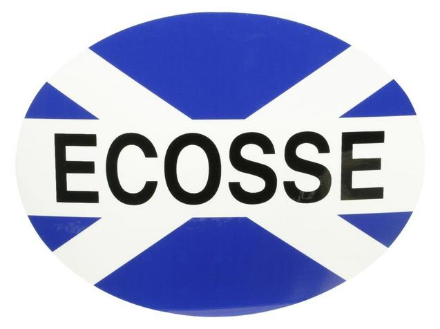 Halfords ecosse car sticker