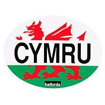 image of Halfords Cymru - Car Sticker
