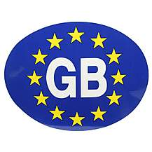 image of Halfords GB - Euro Oval Car Sticker