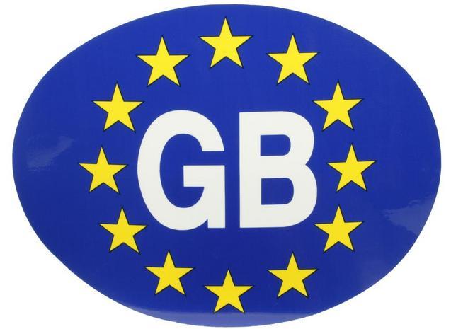 Halfords gb euro car sticker