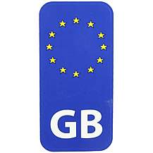 image of Halfords GB Euro - Car Sticker