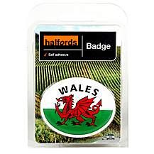 image of Halfords Deluxe Welsh Badge