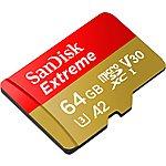 image of SanDisk Extreme microSDXC 64GB V30