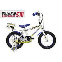 "image of Delivered And Built Apollo Police Patrol Kids Bike - 14"" Wheel"