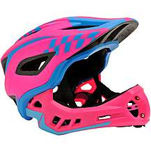 image of Kiddimoto Ikon Kids Helmet - Pink/Blue