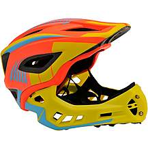 image of Kiddimoto Ikon Kids Helmet - Orange/Yellow