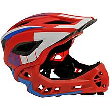 image of Kiddimoto Ikon Kids Helmet - Red/Blue