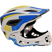 image of Kiddimoto Ikon Kids Helmet - White/Blue