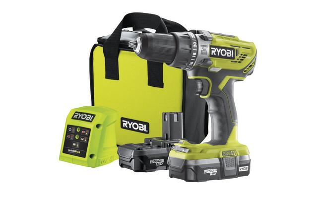 Ryobi 18V ONE+ Combi Drill Starter Kit (2x1.3Ah)