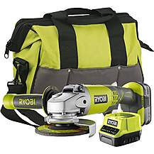 image of Ryobi 18V ONE+ Angle Grinder Starter Kit (1x4.0Ah)