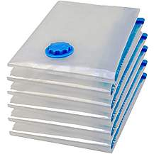 image of Rolson 5pc Vacuum Storage Bag with Hand Pump