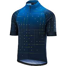 image of Altura Icon Warp Short Sleeve Jersey Blue/Hi Viz Yellow
