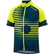 image of Altura Kids Icon Short Sleeve Jersey Hi Viz Yellow/Black