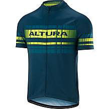 image of Altura Team Short Sleeve Jersey Teal/Hi Viz Yellow