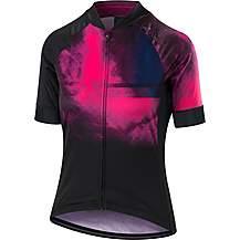 image of Altura Womens Icon Nebular Short Sleeve Jersey Purple/Hi Viz Pink