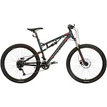 image of Carrera Titan Mens Full Suspension Mountain Bike - S, M, L Frames, Green/Grey