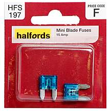 image of Halfords Mini Blade Fuses 15 Amp HFS197