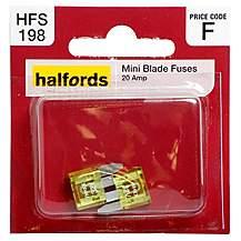 image of Halfords Mini Blade Fuses 20 Amp HFS198