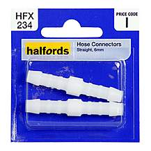 image of Halfords Hose Connector Straight 6mm HFX234