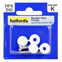 image of Halfords Number Plate Fixings HFX240
