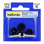 Halfords Number Plate Fixings HFX239