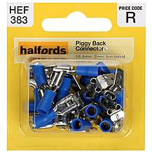 image of Halfords Piggyback Connectors 15 Amp Semi-insulated HEF383