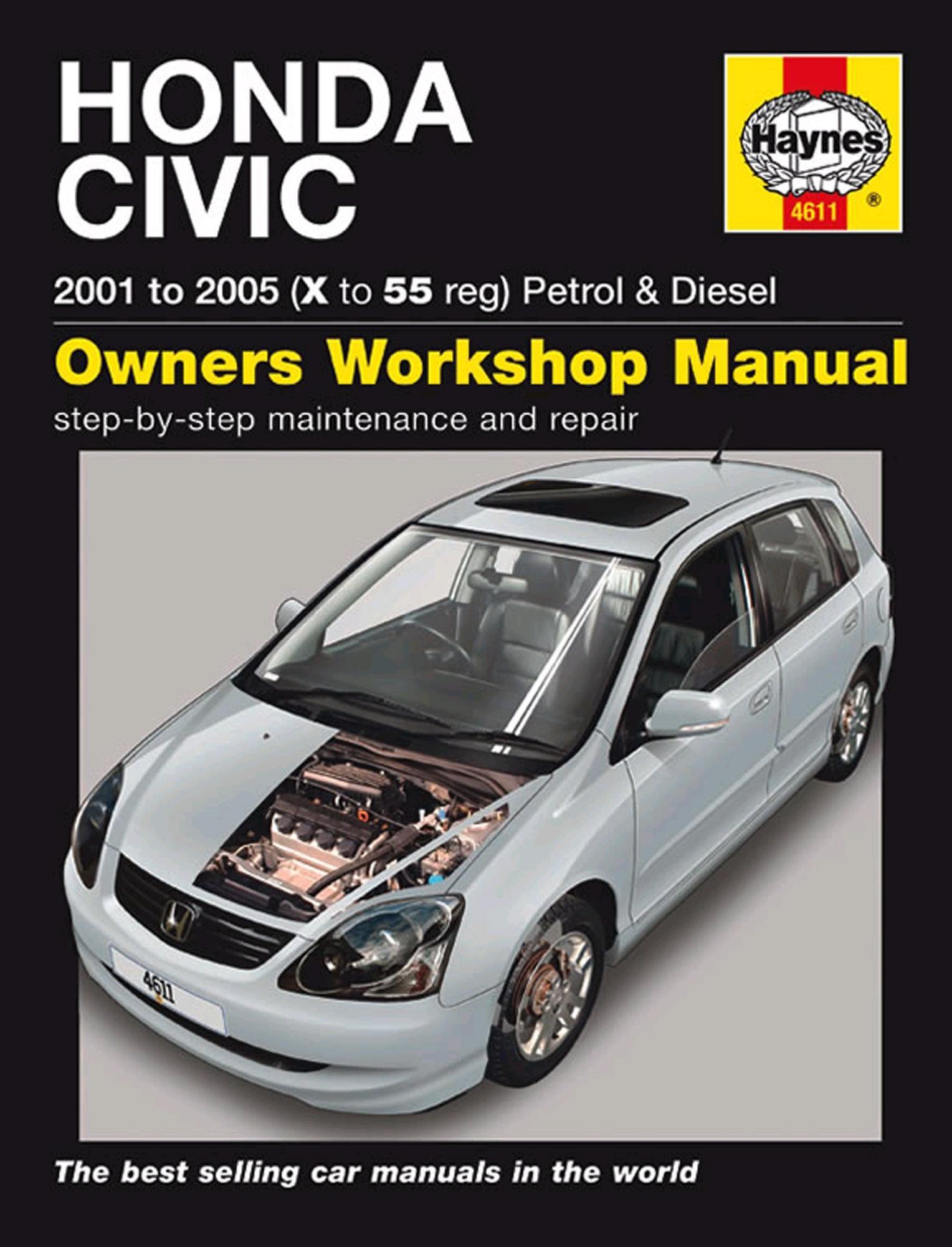 haynes honda civic 01 05 manual rh halfords com Honda Civic Coupe Honda Civic 2002 Manual