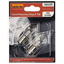image of Halfords 380 P21/5W Quick Response Car Bulbs x 2