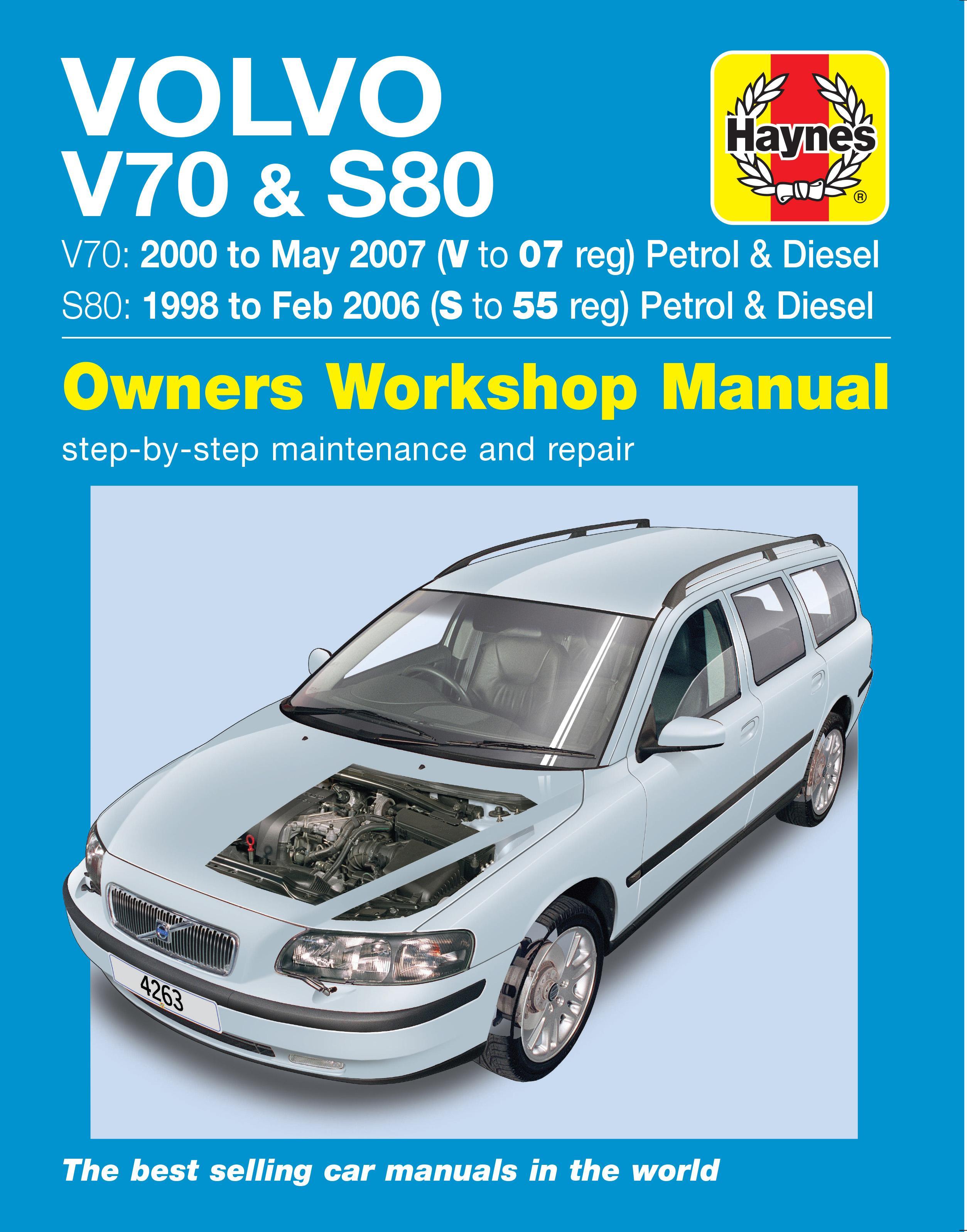 haynes volvo v70 s80 98 07 manual rh halfords com 2000 Volvo S70 Used Volvo S70