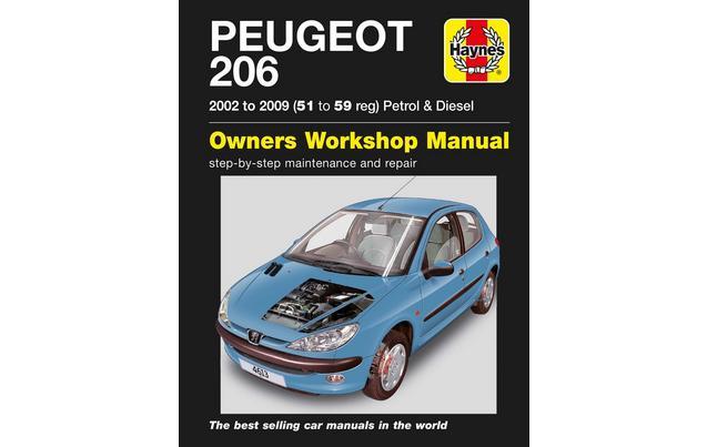 manual peugeot 206 dashboard