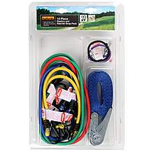 image of Halfords 10 Piece Elastics and Ratchet Strap Pack